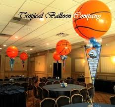basketball centerpieces balloon event decorating most southeastern florida