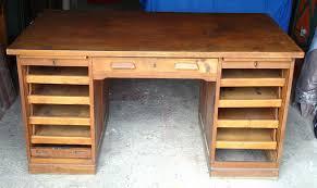 bureau ancien en bois ancien bureau américain 1950 meuble de métier mam zelle brocante