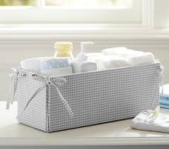 Changing Table Storage Gray Gingham Changing Table Storage Pottery Barn