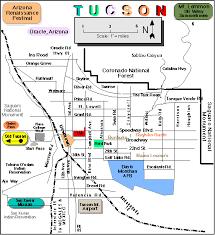 az city map tucson map maps