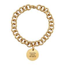 personalized gold bracelets personalized gold tone ip stainless steel engraved id