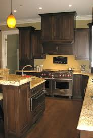what paint color looks good with dark wood cabinets nrtradiant com