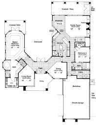courtyard plans plan 6382hd two story courtyard house plan courtyard house