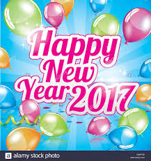 happy new year 2017 greeting card vector stock vector
