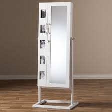 Distressed Jewelry Armoire Armoire Doors U0026 Jewelry Armoire With Plush Black Lining Mirror And