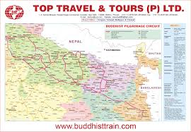 Cathay Pacific Route Map by Buddhist Circuit Map Buddhist Pilgrimage Circuit Tour Map