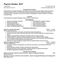Healthcare Resume Examples by Speech Language Therapist Cover Letter