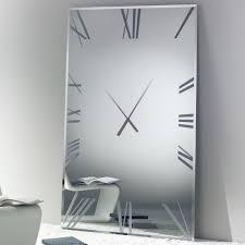titanium rectangular clock clocks living room