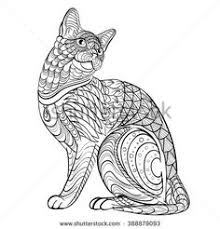 tabby cat coloring pages dreamy tabby cat art print tabby cats cat and zentangle