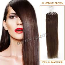 18 inch extensions inch 4 medium brown micro loop human hair extensions 100s