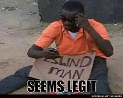 Blind Meme - littlefun blind man and cell phone