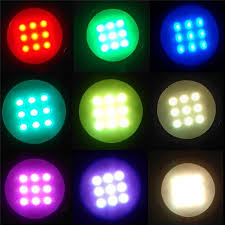 rgb led puck lights aiboo 8 rgb color changing led under cabinet puck lights wireless