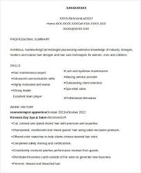 Cosmetologist Resume Example by Cosmetology Resume 5 Free Word Pdf Documents Download Free