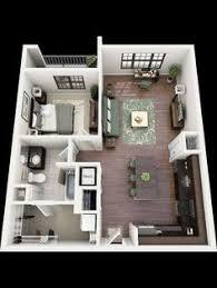 Small Apartment Floor Plans One Bedroom 50 One U201c1 U201d Bedroom Apartment House Plans Bedroom Apartment