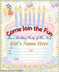 birthday party invitation card template free festival tech com