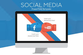 facebook powerpoint template ppt and pptx format graphic cloud