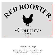 amazon com j boutique stencils red rooster stencil template for