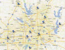 Dallas Area Map by Our Service Area Glean Waste Valet Trash Service