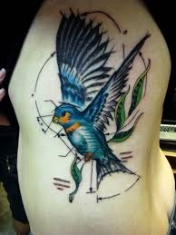 30 rib cage birds tattoos