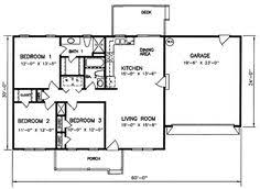 3 Bedroom 2 Bath House Floor Plans Floor Plan For Affordable 1 100 Sf House With 3 Bedrooms And 2