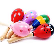 amazon com agooding mini wooden ball musical instruments maracas