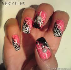pink halloween nail design nail designs u0026 nail art
