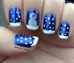 simple snowman nail art featuring ilnp summer stargazing and