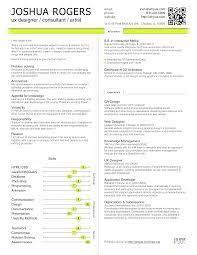 Ui Ux Resume Ux Designer Resume Professional Skills Section Segregation