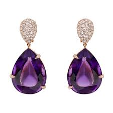 amethyst drop earrings manuel bouvier amethyst diamond drop earrings betteridge