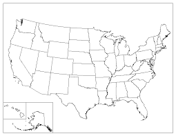united states including alaska and hawaii blank map