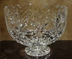 Vintage Waterford Crystal Vases Vintage Waterford Crystal Master Cutter Footed Trifle Centerpiece