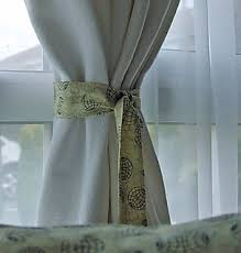 Curtains With Ribbon Ties Easy Tie Backs Tutorial Leftover Fabric Curtain Ties