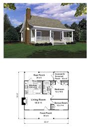 small one house plans with porches tiny house plan 59163 total living area 600 sq ft 1 bedroom