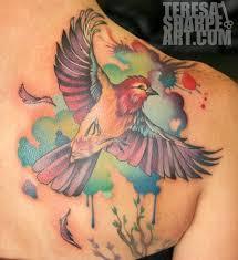 paradise tattoo gathering tattoos teresa sharpe colorful bird
