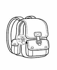 backpack coloring kids coloring pages