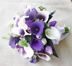 picasso calla purple lavender and white tulips calla lilies bouquet with