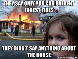 Only You Can Prevent Forest Fires Meme - they say only you can prevent forest fires they didn t say anything