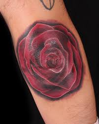black and red rose tattoo by nasa at body language tattoo in