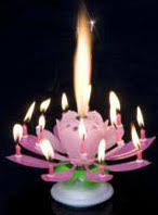 candle sparklers spinning lotus candle cake decorations birthday party on sale