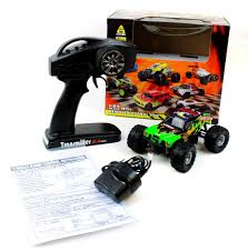 toy bigfoot monster truck bigfoot 1 24 electric rc monster truck 2 4ghz rtr dominator