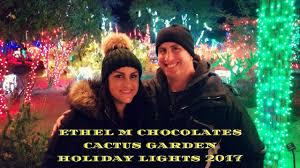 ethel m chocolate factory las vegas holiday lights ethel m chocolates cactus garden holiday lights 2017 youtube