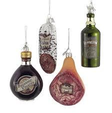 noble gems italian food glass ornaments 4 assorted kurt s adler