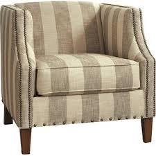 Beige Club Chair Striped Accent Chairs You U0027ll Love Wayfair