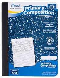 first grade lined writing paper amazon com mead primary composition book ruled 100 sheets 200 amazon com mead primary composition book ruled 100 sheets 200 pages 09902 office products
