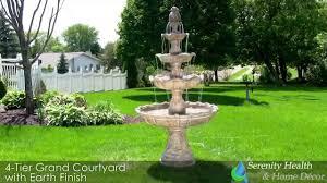 earth 4 tier grand courtyard fountain fc 73850 youtube