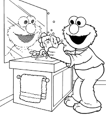 kid want to washing hand coloring pages kid want to washing hand