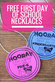 free first day of necklaces editable free printable