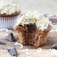 Chocolate Cupcakes With German Chocolate Ganache Filling