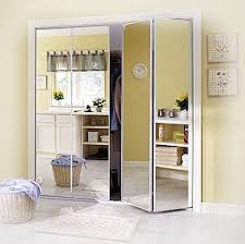 Mirror Doors For Closet More Doors Bifold Accordion Mirrored Collapsible