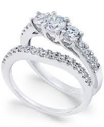 Diamond Wedding Ring Sets by Bridal Set Womens Engagement And Wedding Rings Macy U0027s